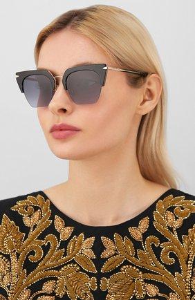 Женские солнцезащитные очки RAG&BONE черного цвета, арт. RNB1007 2M2   Фото 2 (Тип очков: С/з; Оптика Гендер: оптика-женское; Очки форма: Прямоугольные)