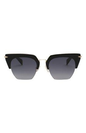 Женские солнцезащитные очки RAG&BONE черного цвета, арт. RNB1007 2M2 | Фото 3