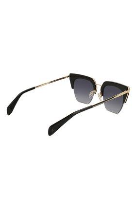Женские солнцезащитные очки RAG&BONE черного цвета, арт. RNB1007 2M2 | Фото 4