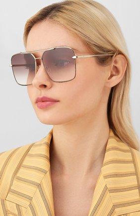 Женские солнцезащитные очки RAG&BONE коричневого цвета, арт. RNB1010 01Q | Фото 2