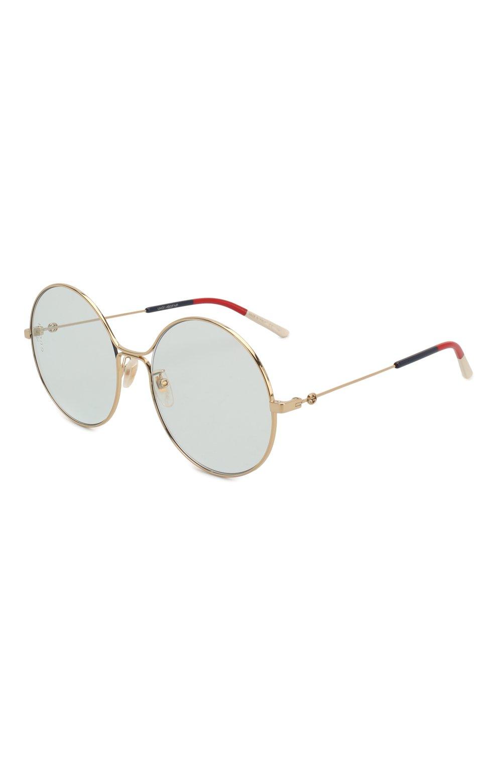 Женские солнцезащитные очки GUCCI голубого цвета, арт. GG0395 006   Фото 1