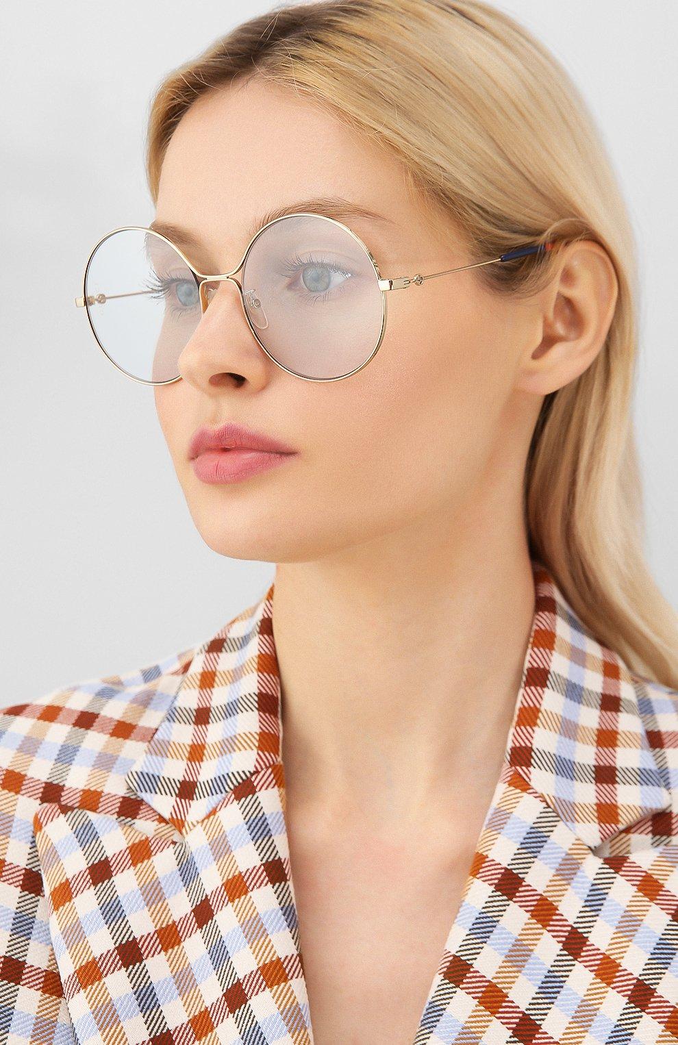 Женские солнцезащитные очки GUCCI голубого цвета, арт. GG0395 006   Фото 2