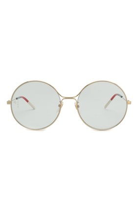 Женские солнцезащитные очки GUCCI голубого цвета, арт. GG0395 006   Фото 3