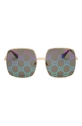 Женские солнцезащитные очки GUCCI черного цвета, арт. GG0414 003   Фото 3