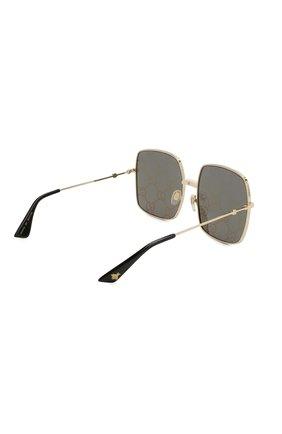 Женские солнцезащитные очки GUCCI черного цвета, арт. GG0414 003   Фото 4