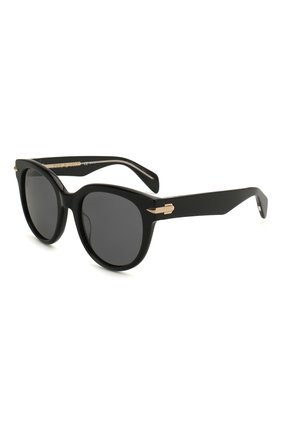 Мужские солнцезащитные очки RAG&BONE черного цвета, арт. RNB1003 7C5 | Фото 1