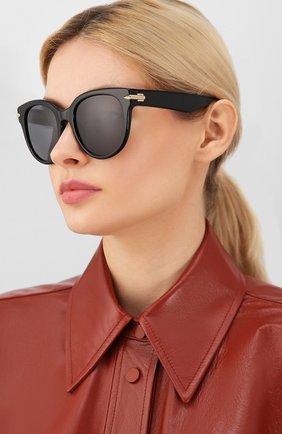 Мужские солнцезащитные очки RAG&BONE черного цвета, арт. RNB1003 7C5 | Фото 2