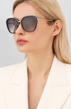 Женские солнцезащитные очки CARTIER черного цвета, арт. CT0150SA 001 | Фото 2