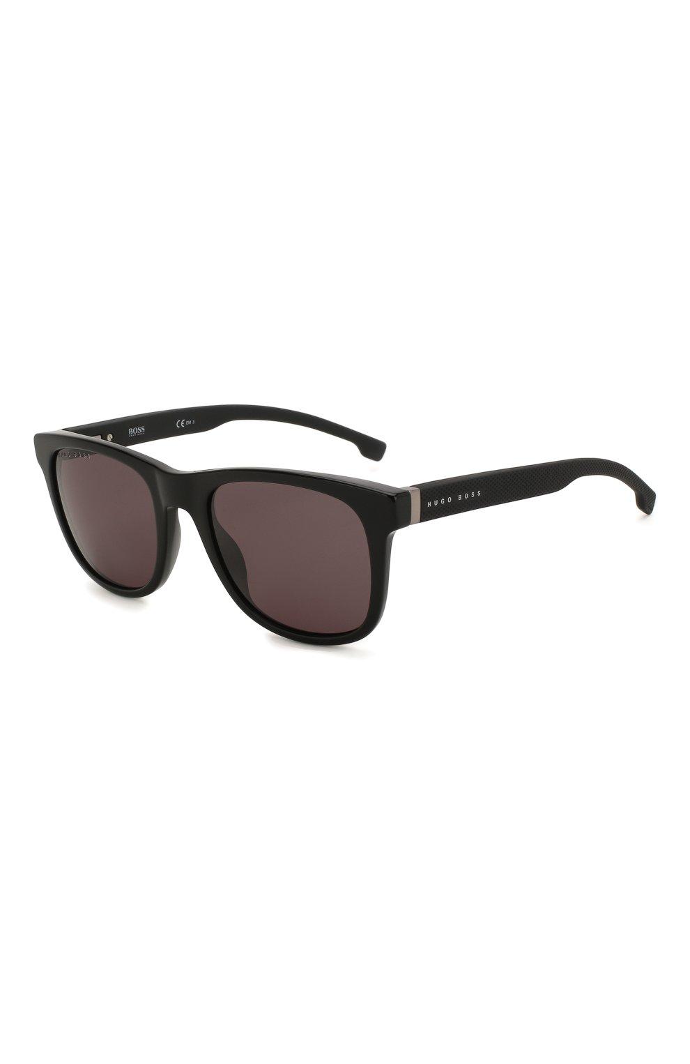 Женские солнцезащитные очки BOSS черного цвета, арт. 1039 807 | Фото 1