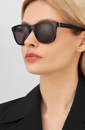 Женские солнцезащитные очки BOSS черного цвета, арт. 1039 807 | Фото 2