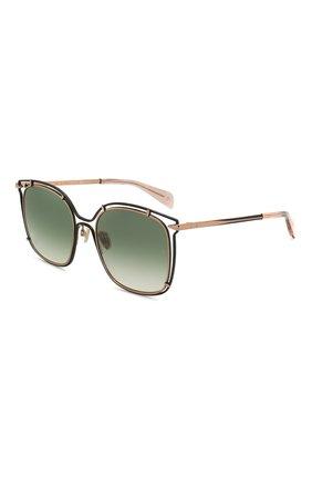 Женские солнцезащитные очки RAG&BONE зеленого цвета, арт. RNB1023 PEF | Фото 1