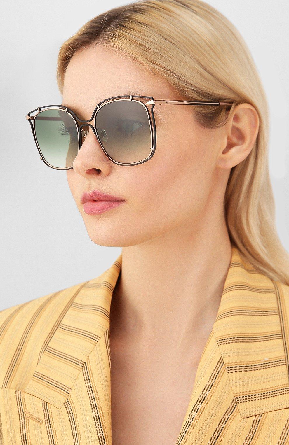 Женские солнцезащитные очки RAG&BONE зеленого цвета, арт. RNB1023 PEF | Фото 2