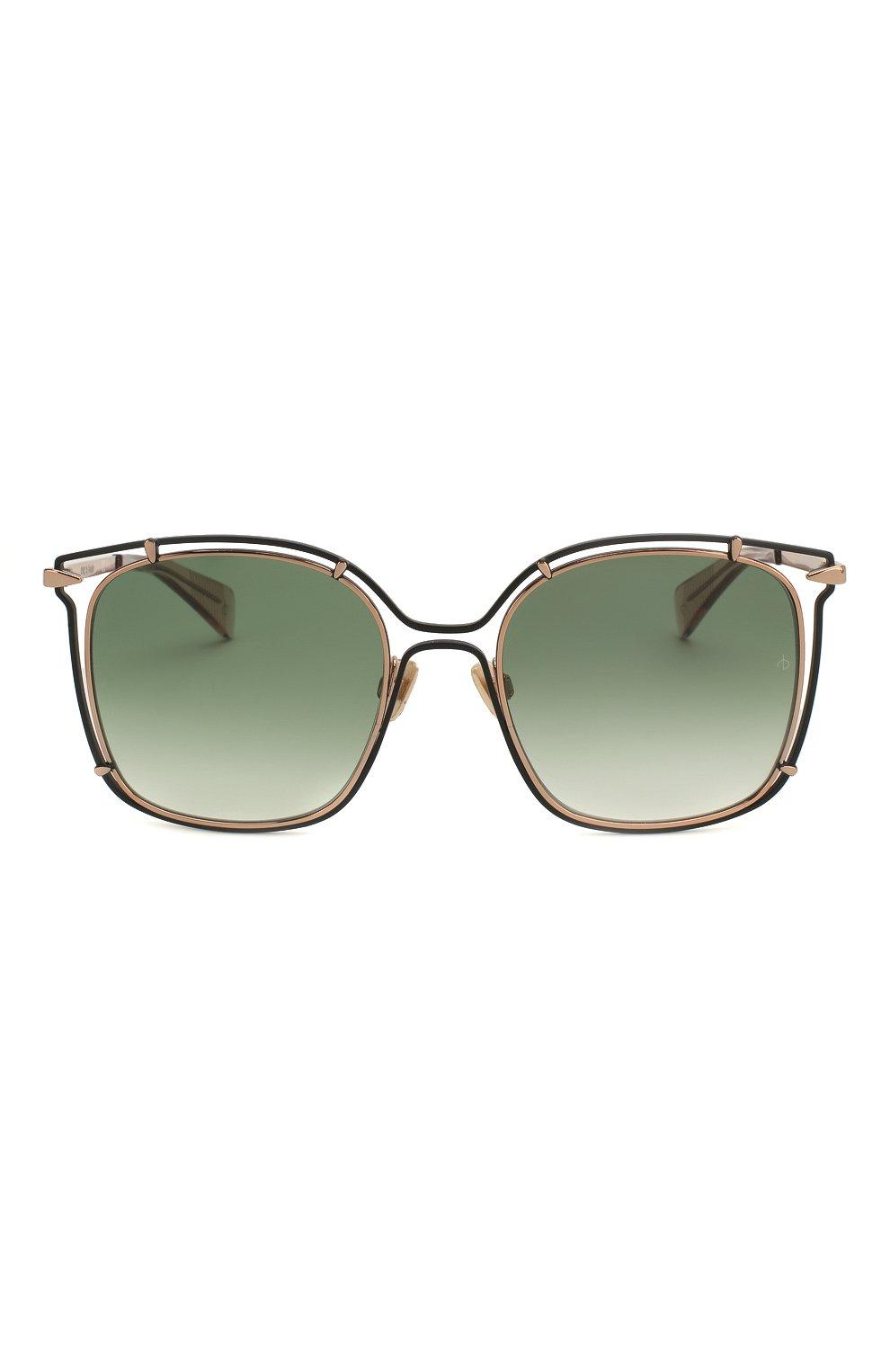 Женские солнцезащитные очки RAG&BONE зеленого цвета, арт. RNB1023 PEF | Фото 3