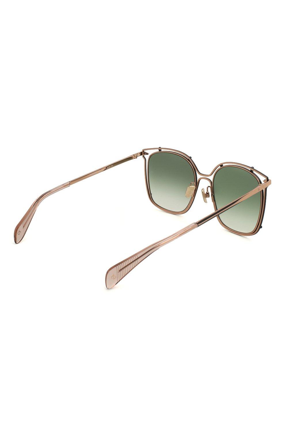 Женские солнцезащитные очки RAG&BONE зеленого цвета, арт. RNB1023 PEF | Фото 4
