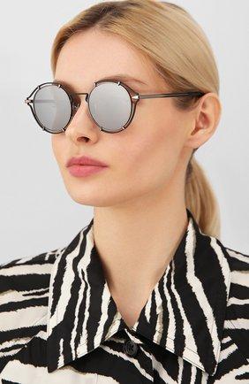 Женские солнцезащитные очки RAG&BONE черного цвета, арт. RNB1024 ANS | Фото 2