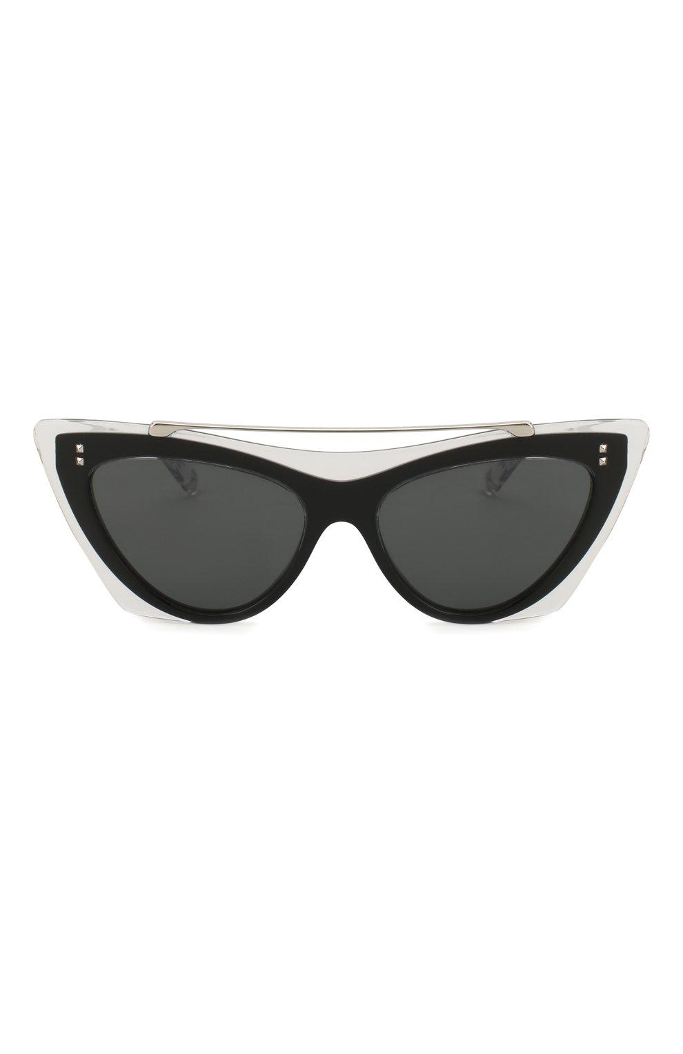 Женские солнцезащитные очки VALENTINO черного цвета, арт. 4041-509987 | Фото 3