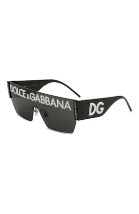 Женские солнцезащитные очки DOLCE & GABBANA черного цвета, арт. 2233-01/87 | Фото 1 (Тип очков: С/з; Очки форма: Маска, D-форма; Оптика Гендер: оптика-унисекс)