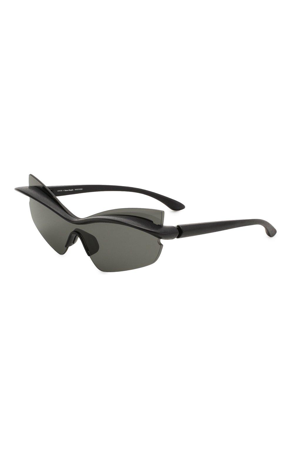 Женские солнцезащитные очки MAISON MARGIELA черного цвета, арт. MMECH0 004/301 | Фото 1