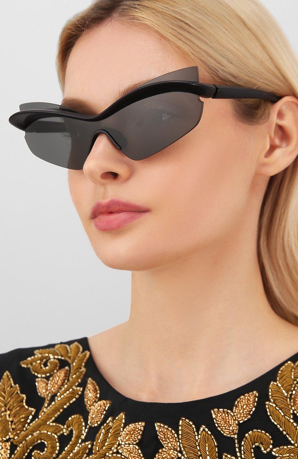 Женские солнцезащитные очки MAISON MARGIELA черного цвета, арт. MMECH0 004/301 | Фото 2