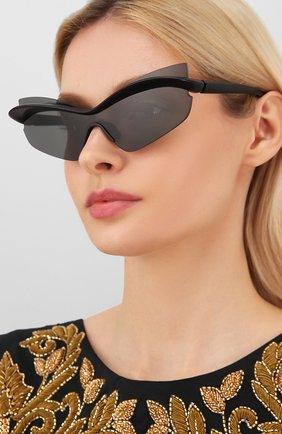 Мужские солнцезащитные очки MAISON MARGIELA черного цвета, арт. MMECH0 004/301 | Фото 2