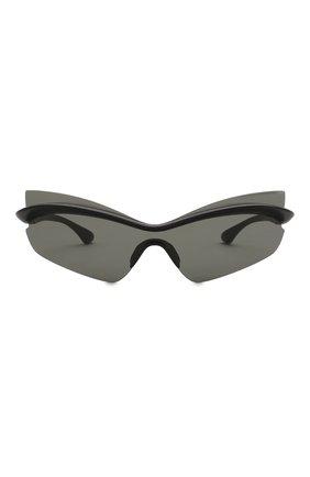 Женские солнцезащитные очки MAISON MARGIELA черного цвета, арт. MMECH0 004/301 | Фото 3