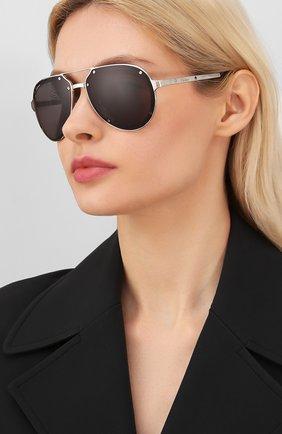 Мужские солнцезащитные очки CARTIER черного цвета, арт. CT0195 001 | Фото 2