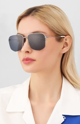 Женские солнцезащитные очки DIOR черного цвета, арт. DI0R180 KWX | Фото 2