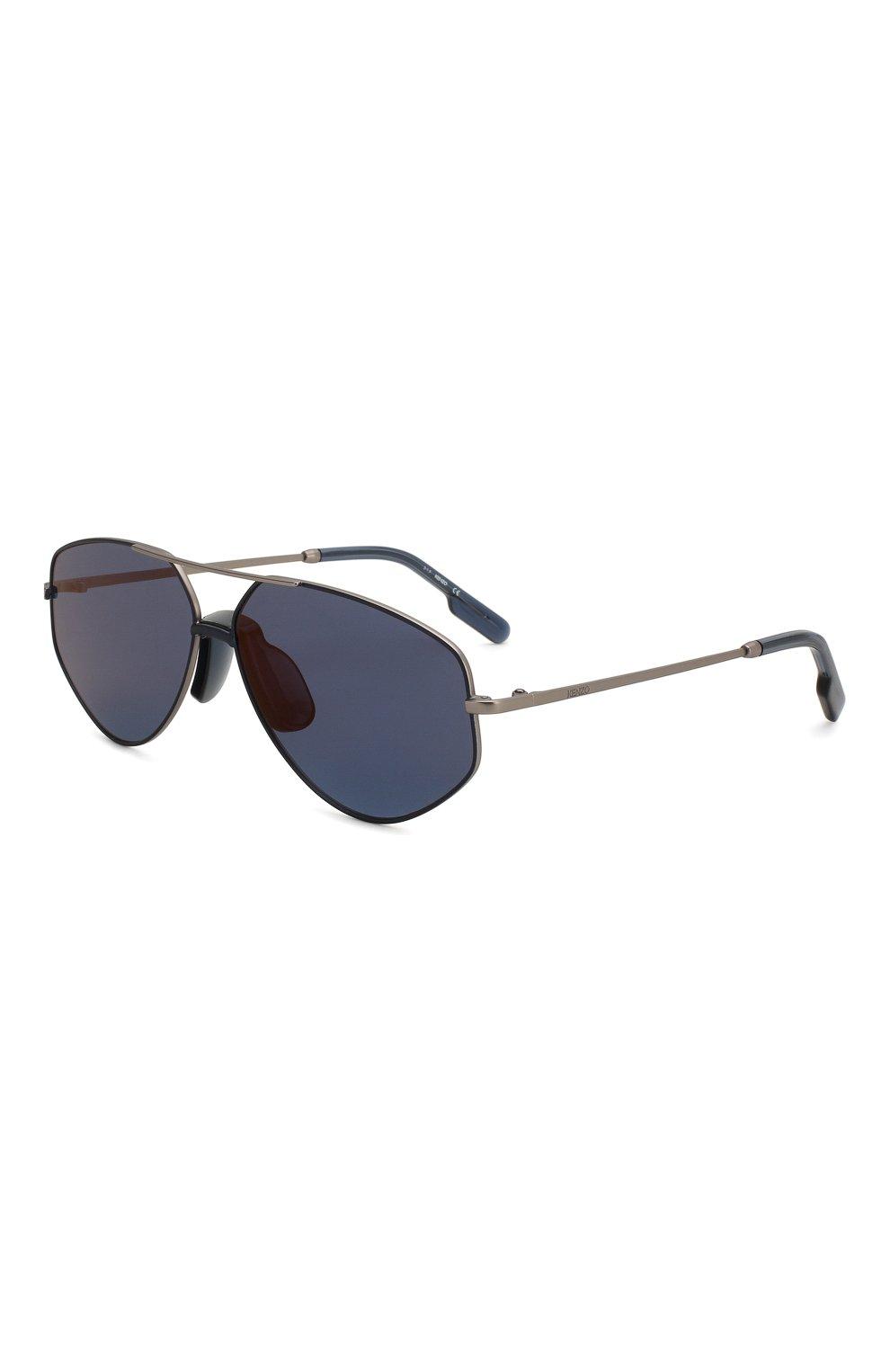 Женские солнцезащитные очки KENZO синего цвета, арт. KZ40014U 13X | Фото 1