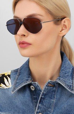 Женские солнцезащитные очки KENZO синего цвета, арт. KZ40014U 13X | Фото 2