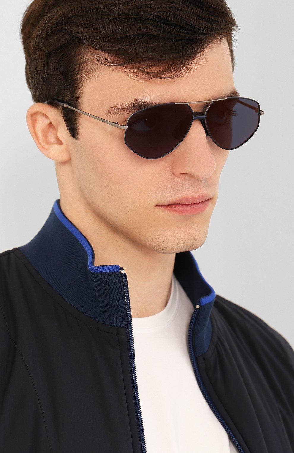 Женские солнцезащитные очки KENZO синего цвета, арт. KZ40014U 13X | Фото 3