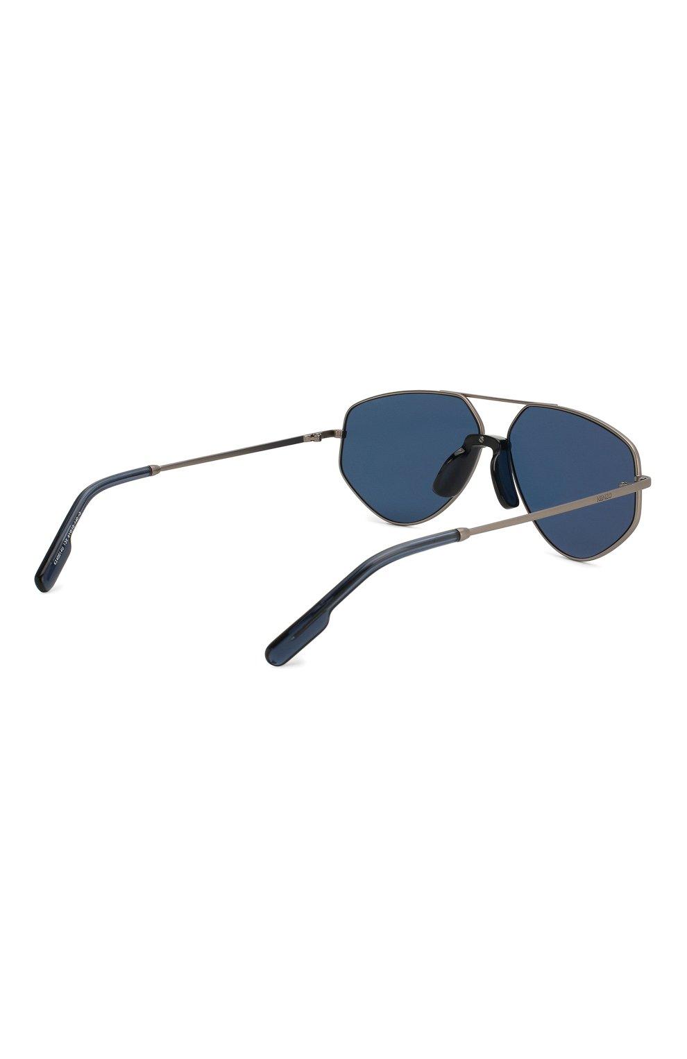 Женские солнцезащитные очки KENZO синего цвета, арт. KZ40014U 13X | Фото 5