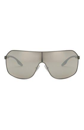 Женские солнцезащитные очки PRADA LINEA ROSSA серого цвета, арт. 53VS-TWW2B0 | Фото 3