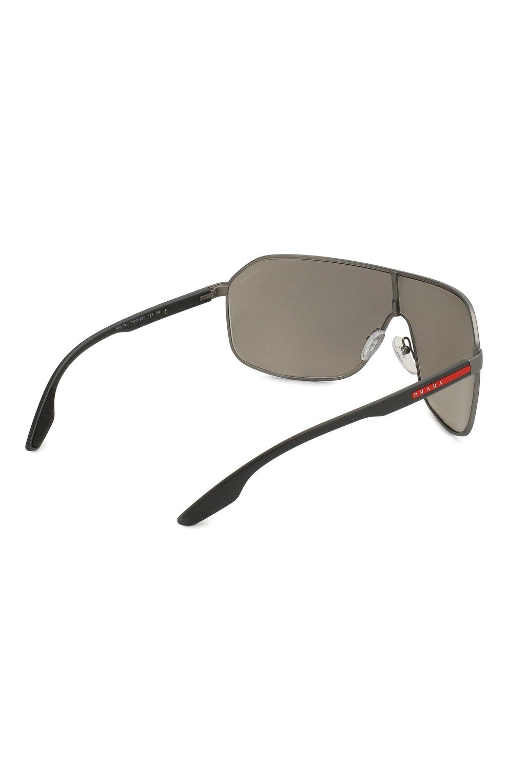 Женские солнцезащитные очки PRADA LINEA ROSSA серого цвета, арт. 53VS-TWW2B0 | Фото 4