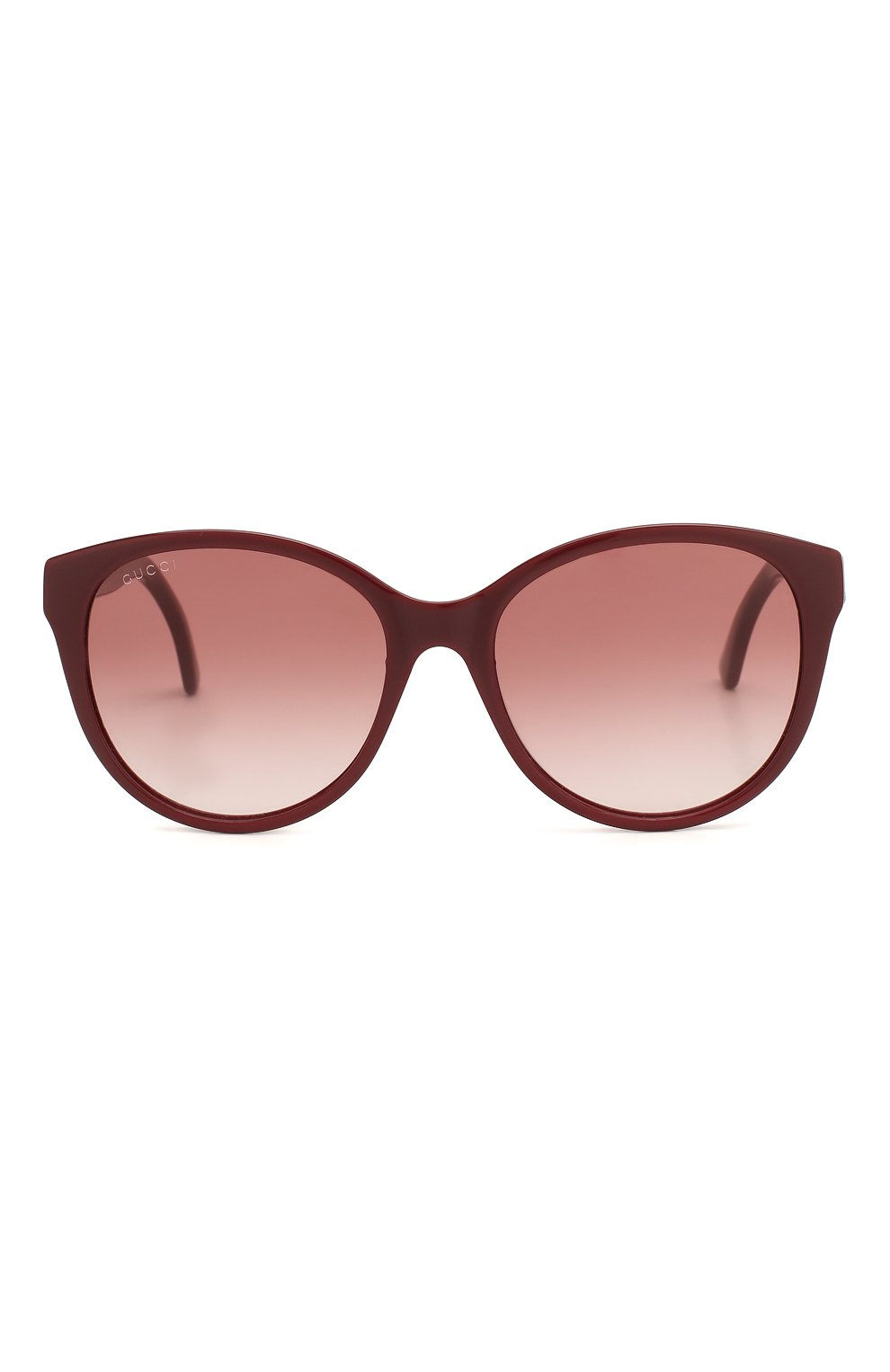 Женские солнцезащитные очки GUCCI бордового цвета, арт. GG0631S 003 | Фото 3
