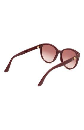 Женские солнцезащитные очки GUCCI бордового цвета, арт. GG0631S 003 | Фото 4