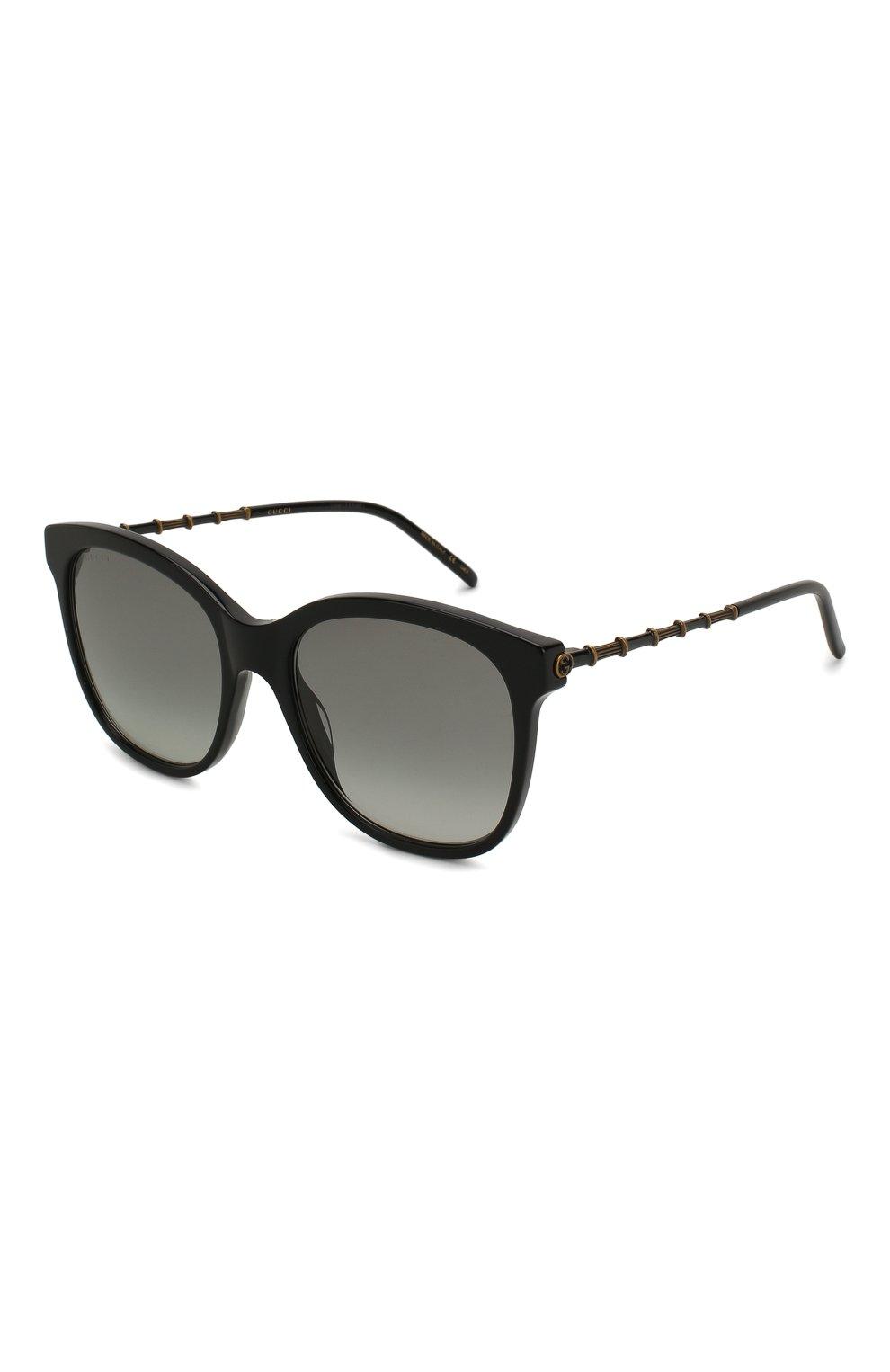 Женские солнцезащитные очки GUCCI черного цвета, арт. GG0654S 001   Фото 1