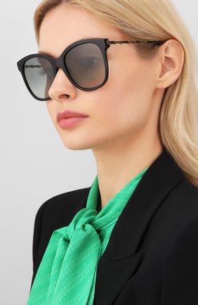 Женские солнцезащитные очки GUCCI черного цвета, арт. GG0654S 001   Фото 2