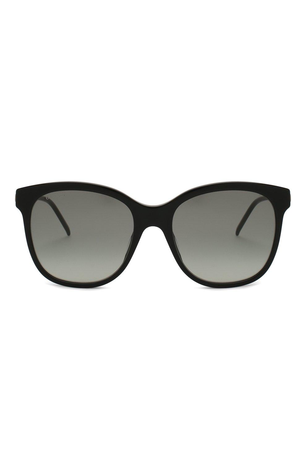 Женские солнцезащитные очки GUCCI черного цвета, арт. GG0654S 001   Фото 3
