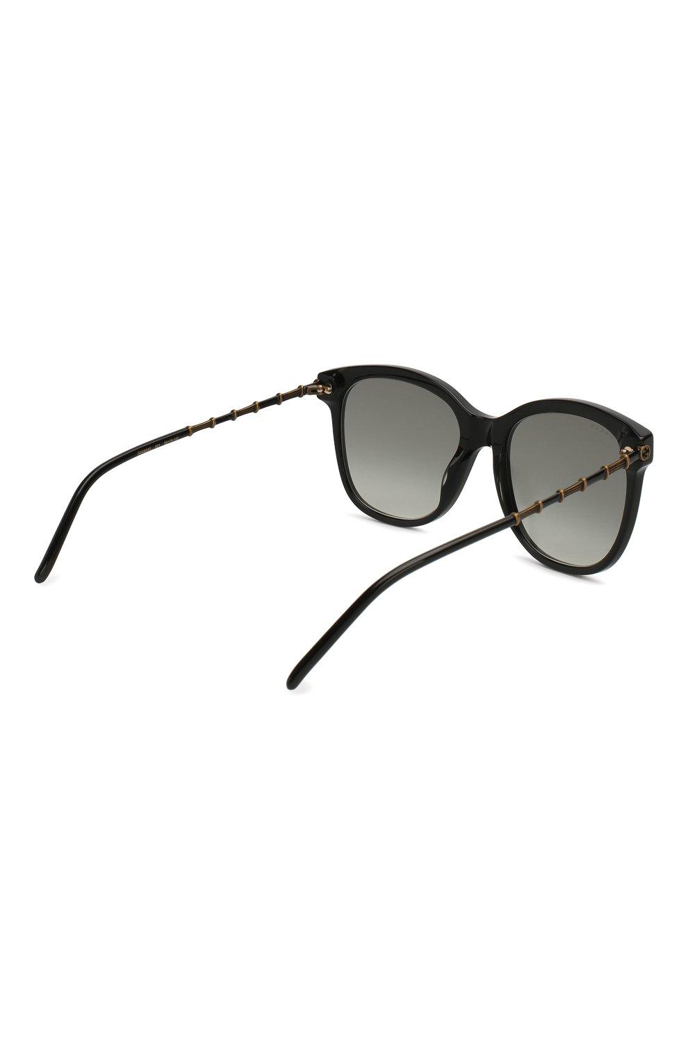 Женские солнцезащитные очки GUCCI черного цвета, арт. GG0654S 001   Фото 4