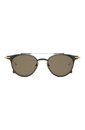 Женские солнцезащитные очки THOM BROWNE серого цвета, арт. TB-814-01 | Фото 3