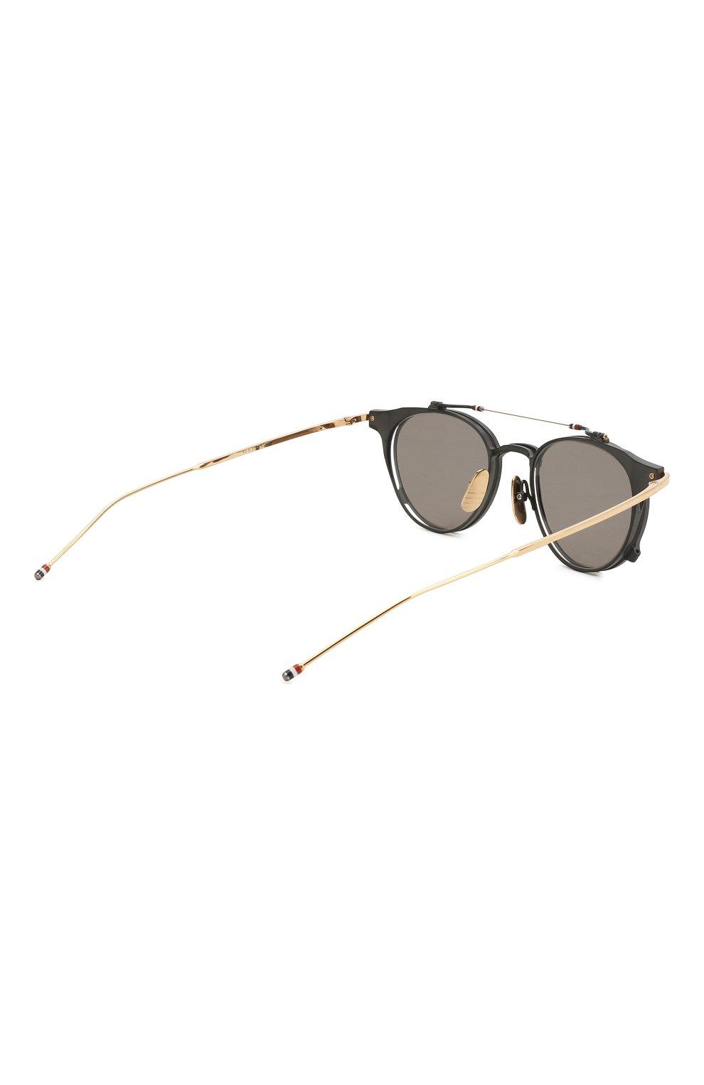 Женские солнцезащитные очки THOM BROWNE серого цвета, арт. TB-814-01 | Фото 4