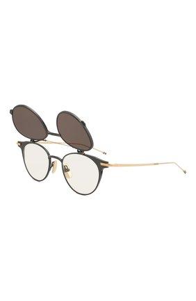 Женские солнцезащитные очки THOM BROWNE серого цвета, арт. TB-814-01 | Фото 5