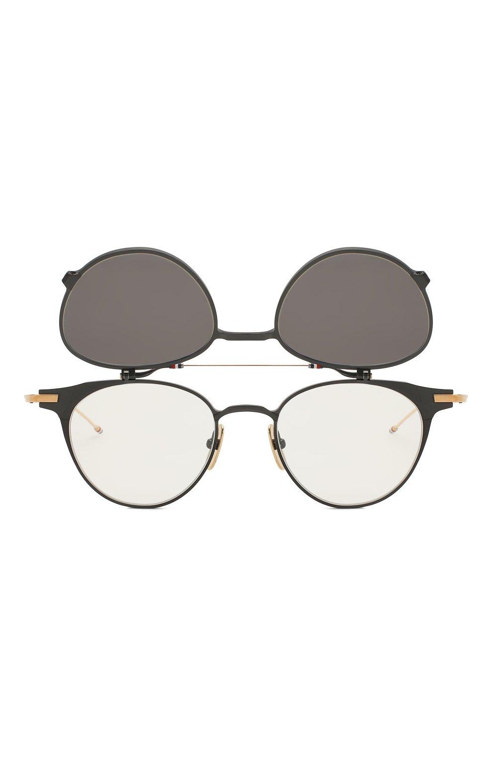 Женские солнцезащитные очки THOM BROWNE серого цвета, арт. TB-814-01 | Фото 6