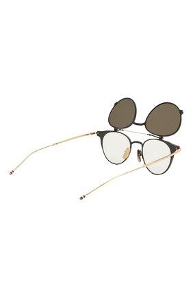 Женские солнцезащитные очки THOM BROWNE серого цвета, арт. TB-814-01 | Фото 7