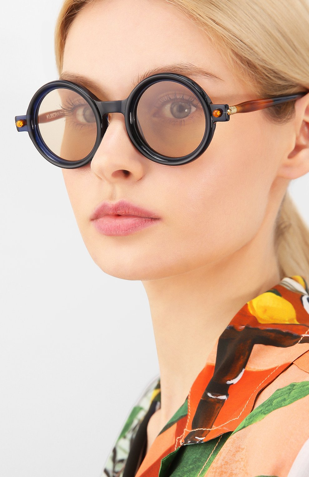 Женские солнцезащитные очки KUB0RAUM темно-синего цвета, арт. P1 BL | Фото 2
