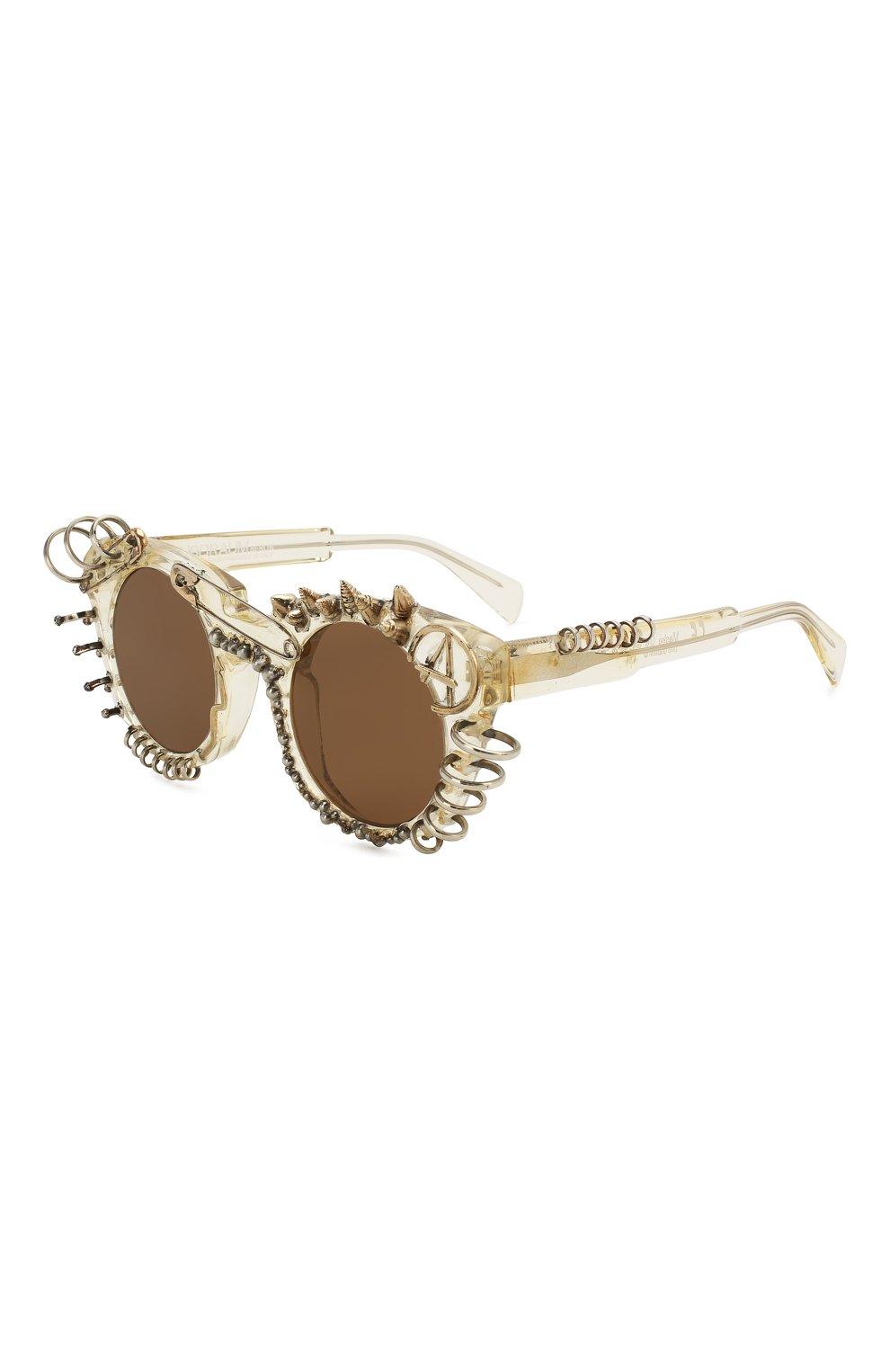 Женские солнцезащитные очки KUB0RAUM прозрачного цвета, арт. U6 CHP IN | Фото 1
