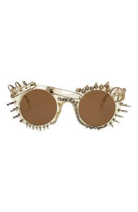 Женские солнцезащитные очки KUB0RAUM прозрачного цвета, арт. U6 CHP IN | Фото 3