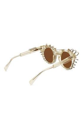 Женские солнцезащитные очки KUB0RAUM прозрачного цвета, арт. U6 CHP IN | Фото 4