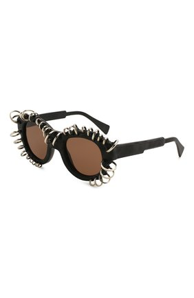 Женские солнцезащитные очки KUB0RAUM черного цвета, арт. L2 BM VS | Фото 1