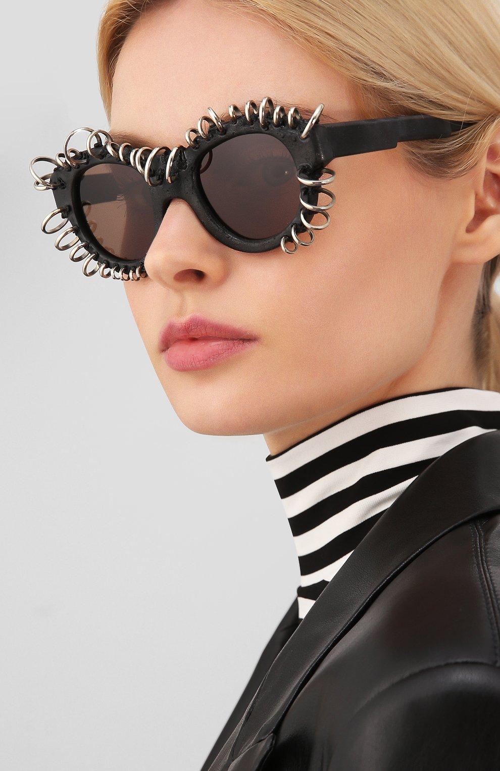Женские солнцезащитные очки KUB0RAUM черного цвета, арт. L2 BM VS | Фото 2